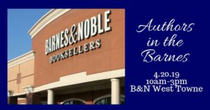 Barnes & Noble Storefront and Authors in the Barnes Lobo