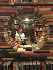 Kristin at the Last Bookstore in LA