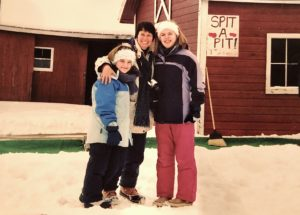 Jessica, Kristin, and Caitlin in snow gear
