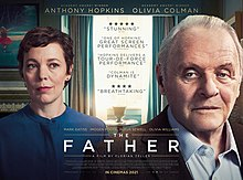 The Father movie poster with Olivia Coleman and Anthony Hopkins