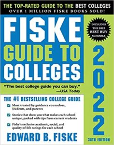 Cover of Fiske Guide to Colleges 2022