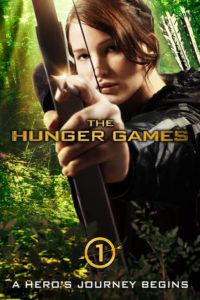 Poster of Jennifer Lawrence as Katniss Everdeen shooting an arror