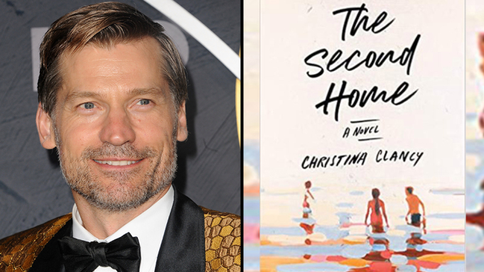 Headshot Nikolaj Coster-Waldau and the cover of The Second Home