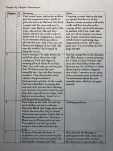Tim's Chapter by Chapter Assessment